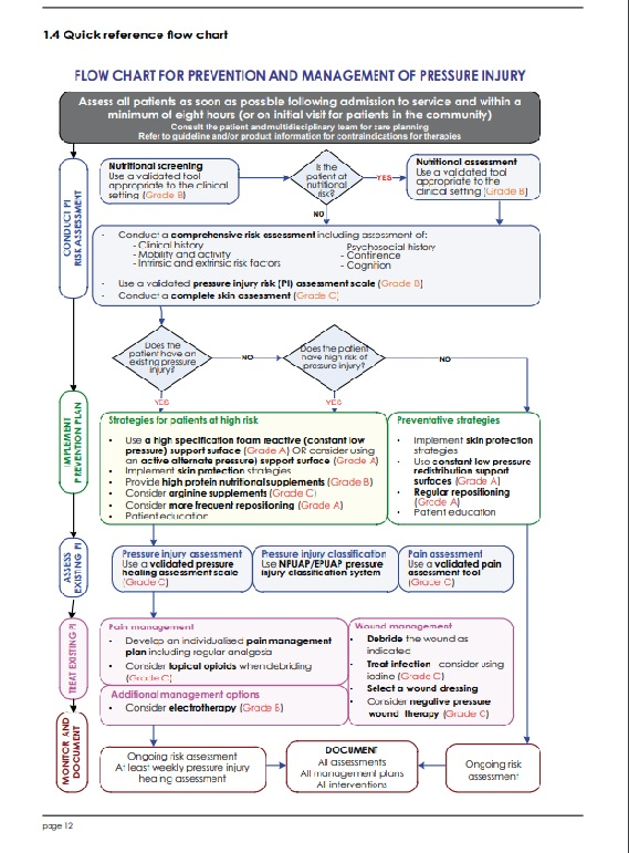 Flow Chart for Prevention and Management of Pressure Injury